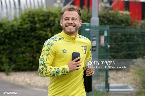 Ryan Fraser of Bournemouth during a training session at the Vitality Stadium on June 12 2020 in Bournemouth England