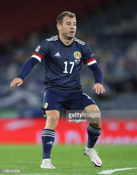 Ryan Fraser of Scotland is seen in action during the UEFA Nations League group stage match between Scotland and Czech Republic at Hampden Park on...
