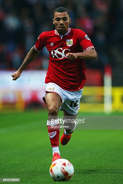 Ryan Fredericks of Bristol City in action during the Sky Bet Championship match between Bristol City and Leeds United at Ashton Gate on August 19...