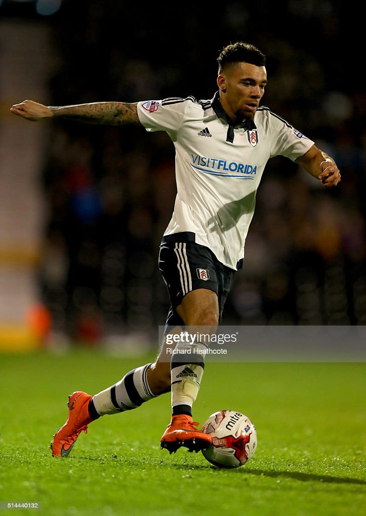 Ryan Fredericks of Fulham in action during the Sky Bet Championship match between Fulham and Burnley at Craven Cottage on March 8, 2016 in London, United Kingdom.
