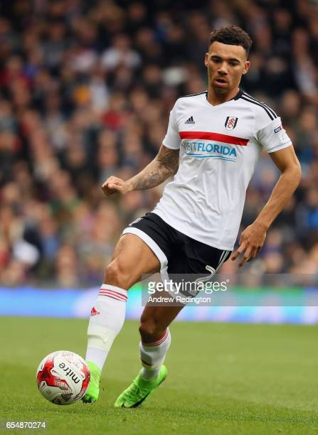 Ryan Fredericks of Fulham in action during the Sky Bet Championship match between Fulham and Wolverhampton Wanderers at Craven Cottage on March 18...