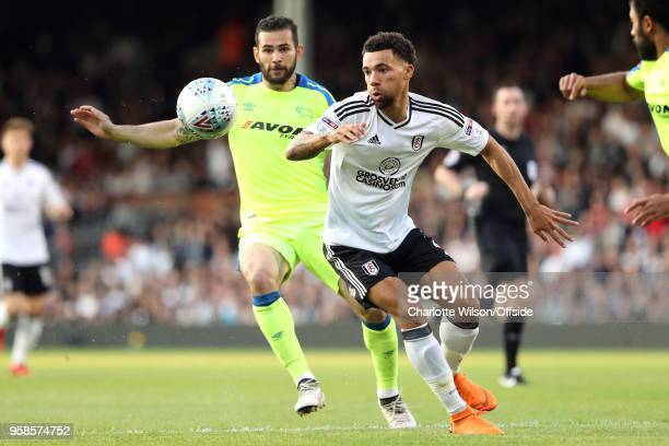 Ryan Fredericks of Fulham in action during the Sky Bet Championship Play Off Semi FinalSecond Leg match between Fulham and Derby County at Craven...