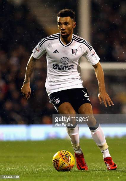 Ryan Fredericks of Fulham runs with the ball during the Sky Bet Championship match between Fulham and Ipswich Town at Craven Cottage on January 2...