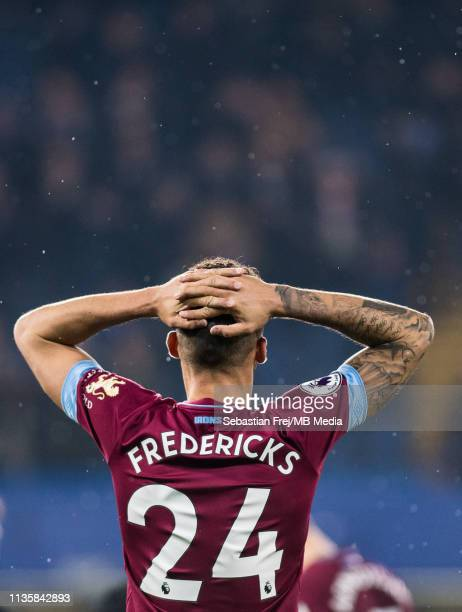 Ryan Fredericks of West Ham United reaction during the Premier League match between Chelsea FC and West Ham United at Stamford Bridge on April 8 2019...