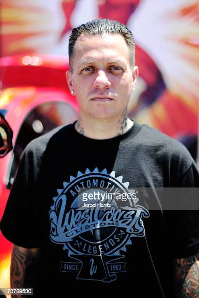 Ryan Friedlinghaus of West Coast Customs attends the DC Entertainment unveiling of a custom Justice League car to benefit We CanBe Heroes at PETCO...