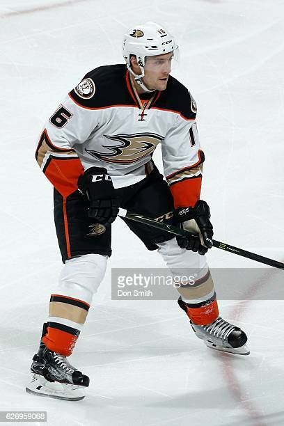 Ryan Garbutt of the Anaheim Ducks looks during a NHL game against the San Jose Sharks at SAP Center at San Jose on November 26, 2016 in San Jose,...