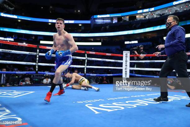 Ryan Garcia defends his WBC Interim Lightweight Title against Luke Campbell at American Airlines Center on January 02, 2021 in Dallas, Texas.