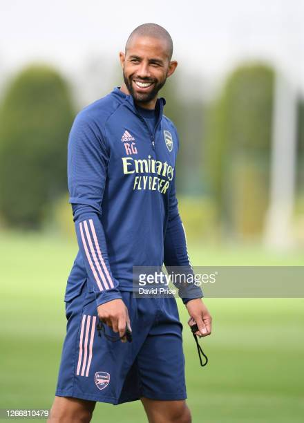 Ryan Garry the Arsenal U23 Assistant Manager during the Arsenal U23 training session at London Colney on August 17, 2020 in St Albans, England.