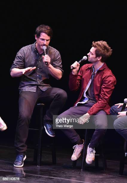 Ryan Gaul and Drew Tarver perform on stage at the Comedy Bang Bang at BAM presented by Vulture Festival on May 20 2017 in New York City