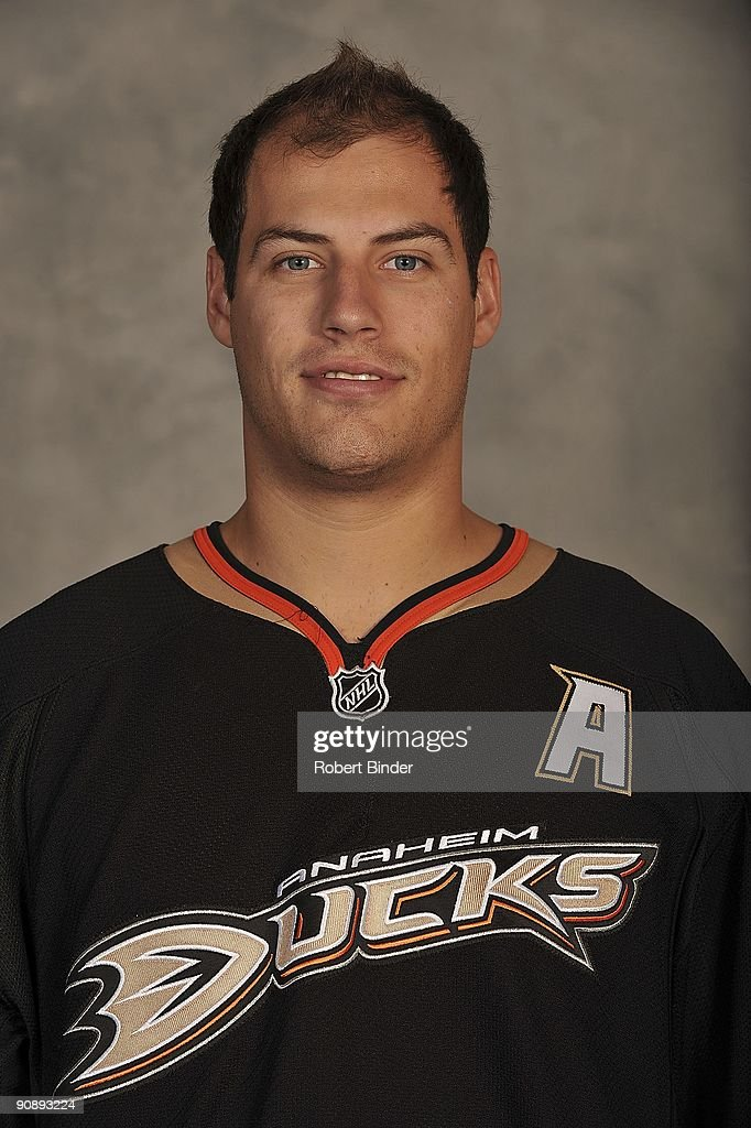 Ryan Getzlaf #15 of the Anaheim Ducks poses for his official headshot for the 2009-2010 NHL season.