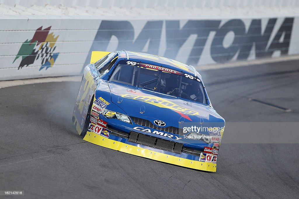 Ryan Gifford drives the #2 Sunoco/Langley Speedway Toyota during K&N Series practice for the UNOH Battle At The Beach at Daytona International Speedway on February 19, 2013 in Daytona Beach, Florida.