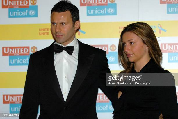 Ryan Giggs and Stacey Cooke arrive at the United for Unicef dinner at Old Trafford Manchester