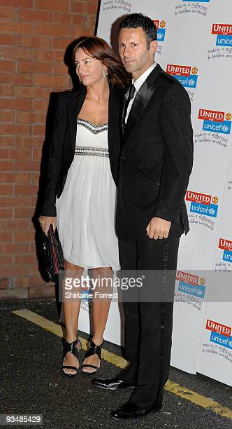 Ryan Giggs and wife Stacey Giggs attend the Manchester United annual gala dinner United For UNICEF at Old Trafford on November 29 2009 in Manchester...