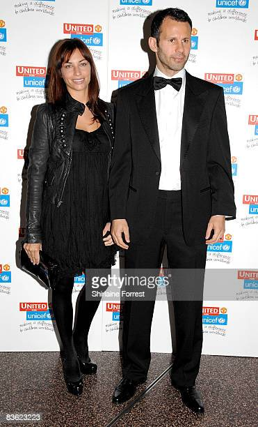Ryan Giggs and wife Stacey Giggs attend the Manchester United `United for UNICEF' Gala Dinner at Manchester United Museum on November 9 2008 in...