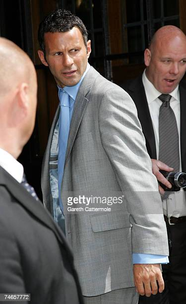 Ryan Giggs arrives at Manchester Cathedral for the wedding of Manchester United and England footballer Gary Neville and Emma Hadfield on June 16 2007...