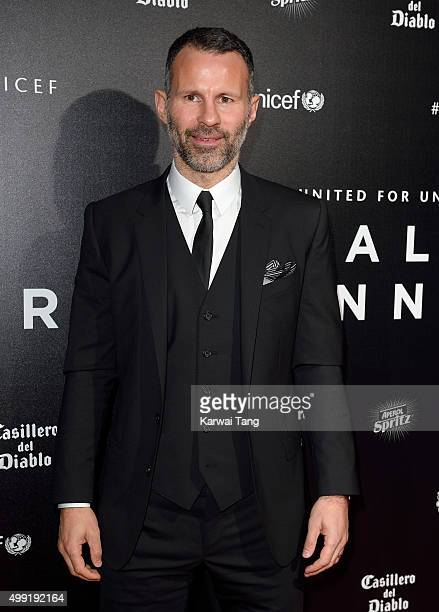 Ryan Giggs attends the United for UNICEF Gala Dinner at Old Trafford on November 29 2015 in Manchester England