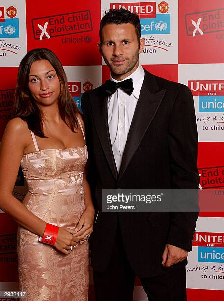 Ryan Giggs of Manchester United and his fiancee Stacey Cooke pose before Annual United For Unicef charity dinner The Midland Hotel Manchester on 24...