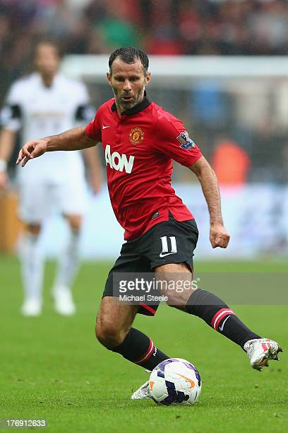 Ryan Giggs of Manchester United during the Barclays Premier League match between Swansea City and Manchester United at the Liberty Stadium on August...