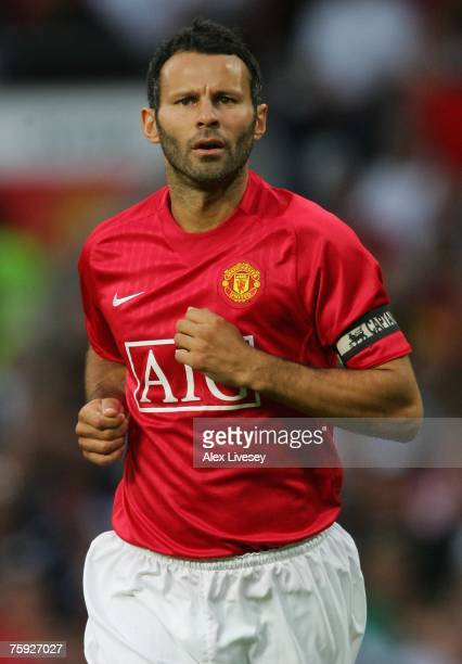 Ryan Giggs of Manchester United during the preseason friendly match between Manchester United and Inter Milan at Old Trafford on August 1 2007 in...