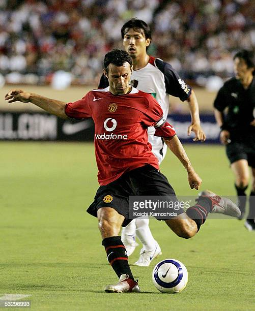 Ryan Giggs of Manchester United in action during a friendly game between Manchester United and Kashima Antlers at National Stadium on July 28, 2005...
