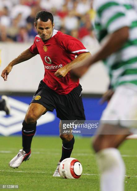 Ryan Giggs of Manchester United in action during the Champions World Series pre-season friendly match between Manchester United and Celtic at Lincoln...