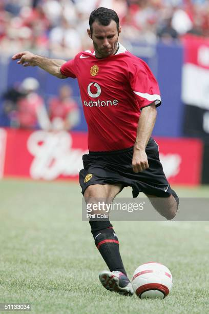 Ryan Giggs of Manchester United in action during the Champions World Series match between Manchester United and AC Milan at Giants Stadium on July...