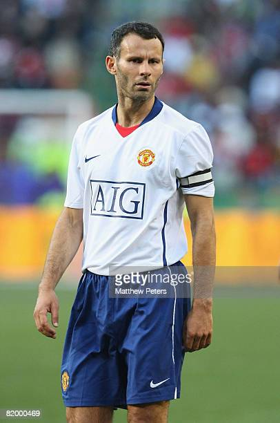 Ryan Giggs of Manchester United in action during the Vodacom Challenge preseason friendly match between Kaizer Chiefs and Manchester United at...