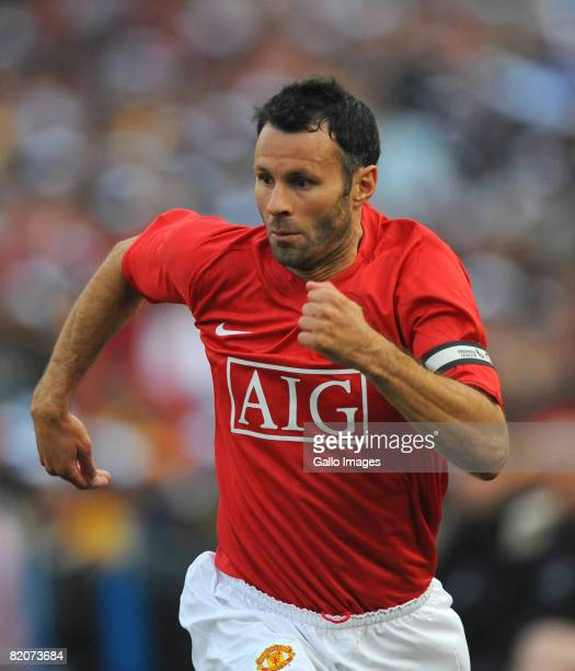 Ryan Giggs of Manchester United in action during the Vodacom Challenge preseason friendly match between Kaizer Chiefs and Manchester United during...