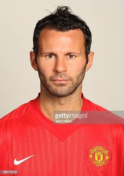 Ryan Giggs of Manchester United poses during the club's annual preseason photocall at Carrington Training Ground on August 17 2007 in Manchester...