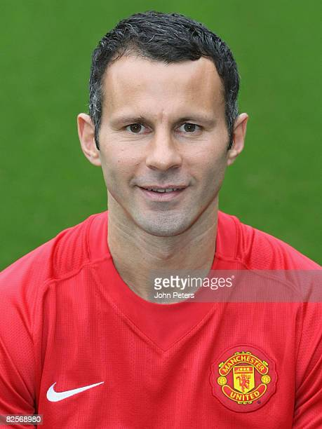 Ryan Giggs of Manchester United poses during the club's official annual photocall at Old Trafford on August 27 2008 in Manchester England