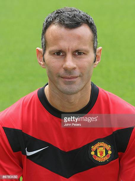 Ryan Giggs of Manchester United poses during the club's official annual photoshoot at Old Trafford on August 14 2009 in Manchester England