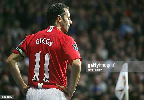 Ryan Giggs of Manchester Unitedin action during the Barclays Premier League match between Manchester United and West Bromwich Albion at Old Trafford...