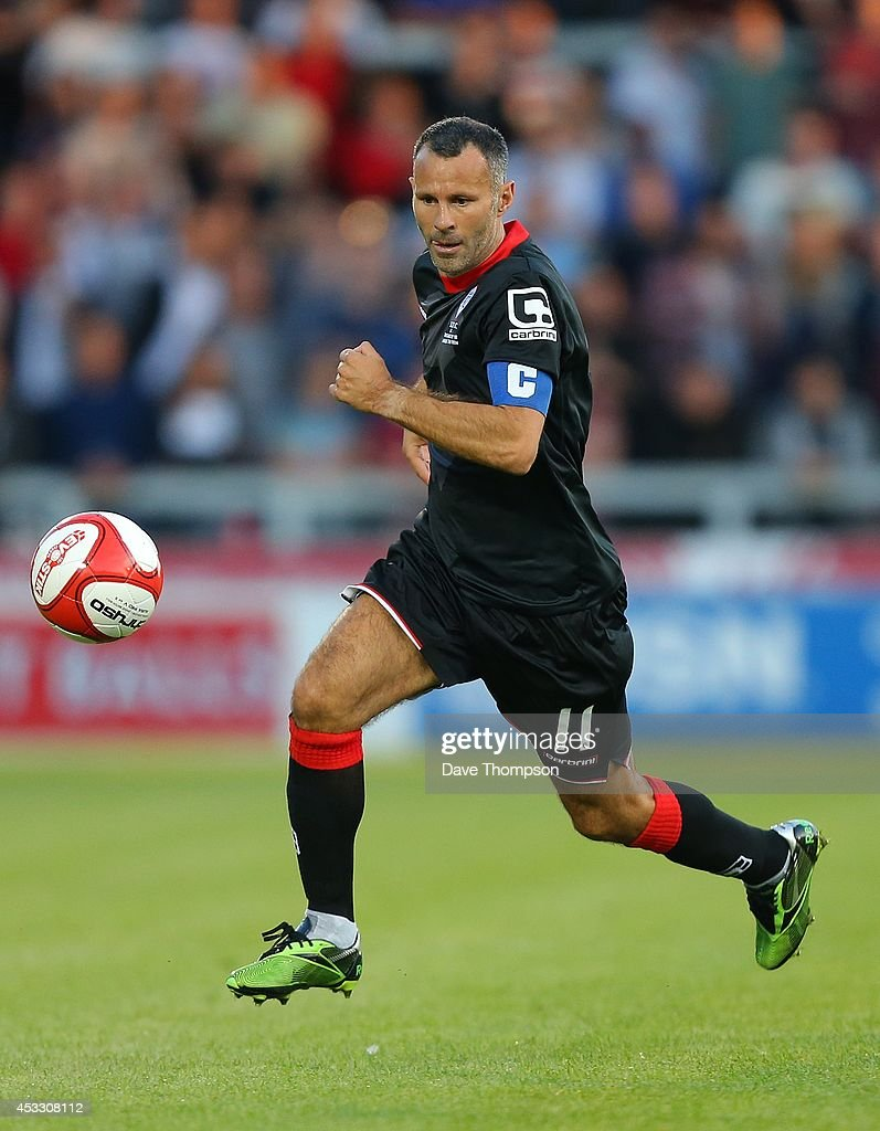 Ryan Giggs of the Class of '92 XI during the match between Salford City and the Class of '92 XI at AJ Bell Stadium on August 7, 2014 in Salford, England.