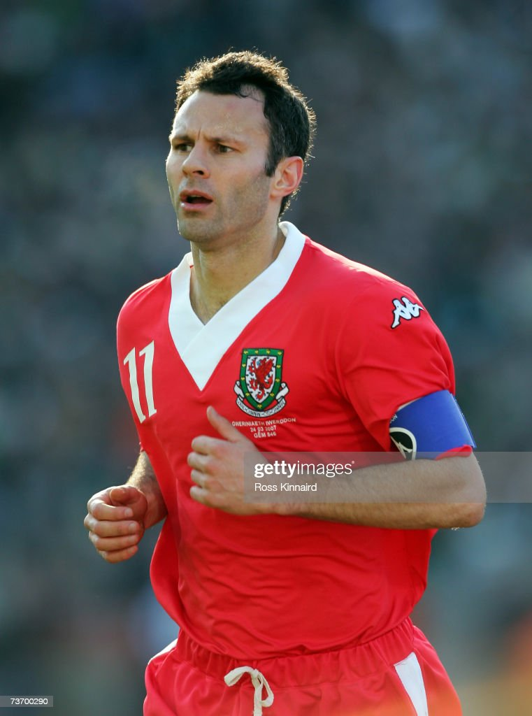 Ryan Giggs of Wales during the Euro2008 Group D Qualifier between the Republic of Ireland and Wales at the Croke Park Stadium on March 24, 2007 in Dublin, Ireland.