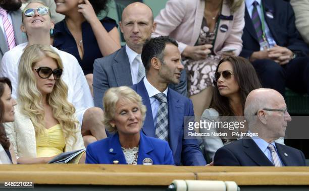 Ryan Giggs with his wife Stacey in the Royal Box during day six of the 2012 Wimbledon Championships at the All England Lawn Tennis Club Wimbledon