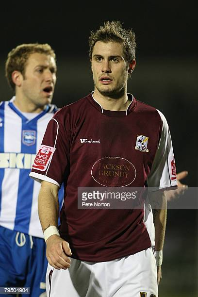 Ryan Gilligan of Northampton Town during the Coca Cola League One Match between Northampton Town and Brighton Hove Albion at the Sixfields Stadium on...