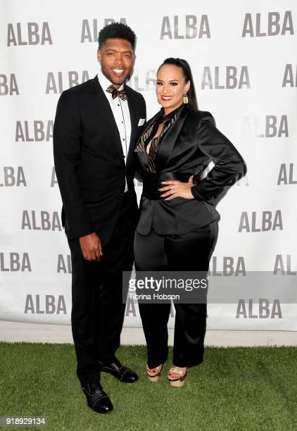 Ryan Gomes and Danielle Gomes attend Jhoanna Alba's NBA All Star ALBA Women's Collection Mixer on February 15 2018 in Los Angeles California