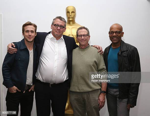 Ryan Gosling Adam McKay Marshall Fine and Patrick Harrison Director of NY Programs and Membership Academy of Motion Picture Arts and Sciences attend...