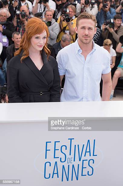 Ryan Gosling and Christina Hendricks at the 'Lost River' photocall during the 67th Cannes Film Festival