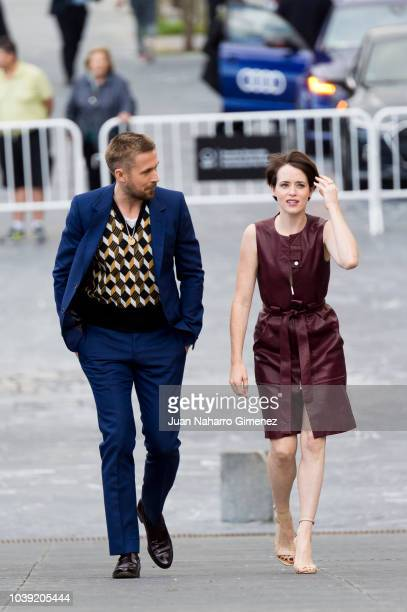 Ryan Gosling and Claire Foy attend 'First Man' photocall during 66th San Sebastian Film Festival on September 24 2018 in San Sebastian Spain