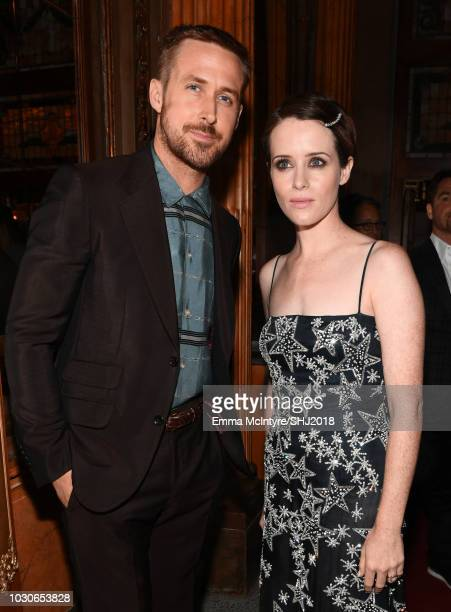 Ryan Gosling and Claire Foy attend the First Man premiere during 2018 Toronto International Film Festival at The Elgin on September 10 2018 in...
