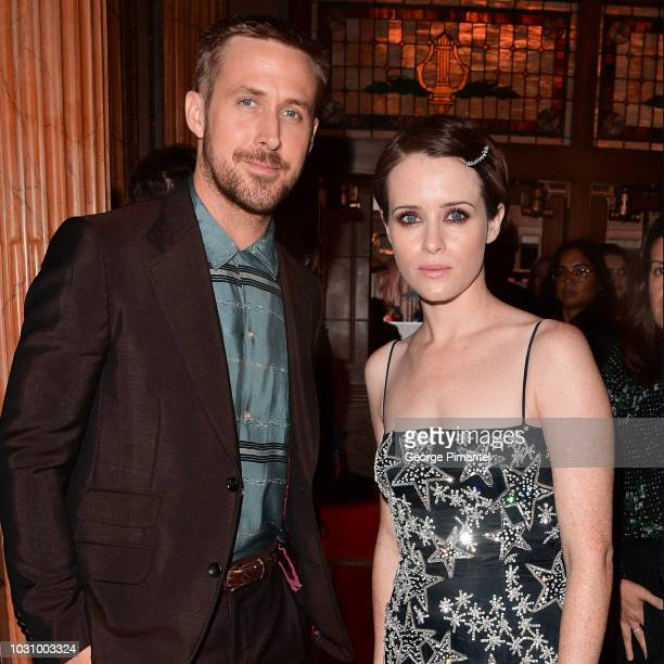 """Ryan Gosling and Claire Foy attend the """"First Man"""" premiere during 2018 Toronto International Film Festival at The Elgin on September 10, 2018 in..."""