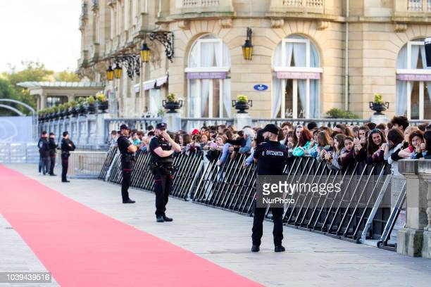 Ryan Gosling and Claire Foy attend the 'First Man' Red Carpet during the 66th San Sebastian International Film Festival on September 24 2018 in San...