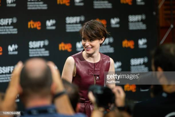 Ryan Gosling and Claire Foy attends the 'First Man' press conference during the 66th San Sebastian International Film Festival on September 24 2018...