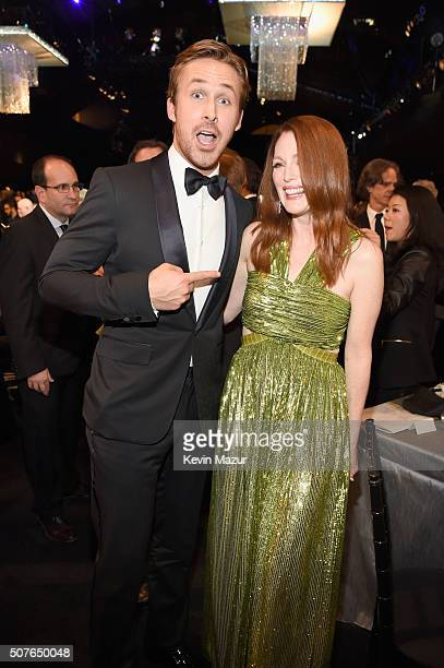 Ryan Gosling and Julianne Moore attend The 22nd Annual Screen Actors Guild Awards at The Shrine Auditorium on January 30 2016 in Los Angeles...