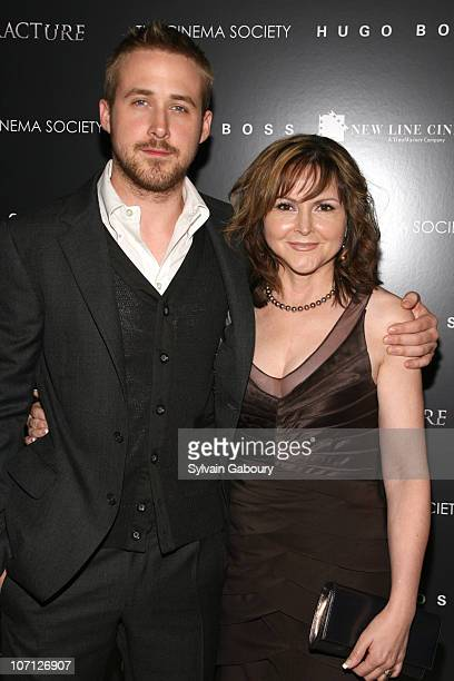 """Ryan Gosling and mother, Donna during """"Fracture"""" Special Screening Hosted by The Cinema Society and Hugo Boss - Inside Arrivals at Tribeca Grand..."""