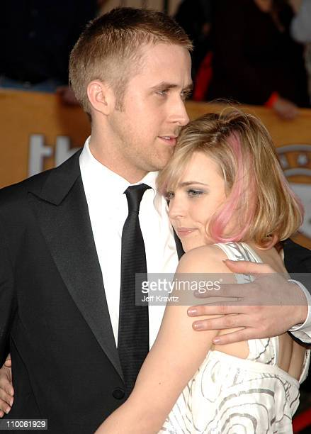 Ryan Gosling and Rachel McAdams during 13th Annual Screen Actors Guild Awards Arrivals at Shrine Auditorium in Los Angeles California United States