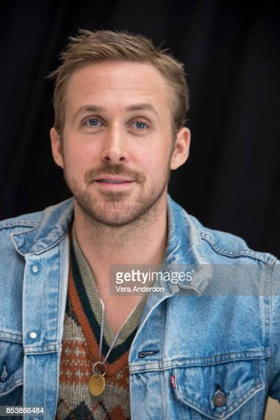 Ryan Gosling at the 'Blade Runner 2049' Press Conference at the Ritz Carlton Marriott Marquis Hotel on September 24 2017 in Los Angeles California