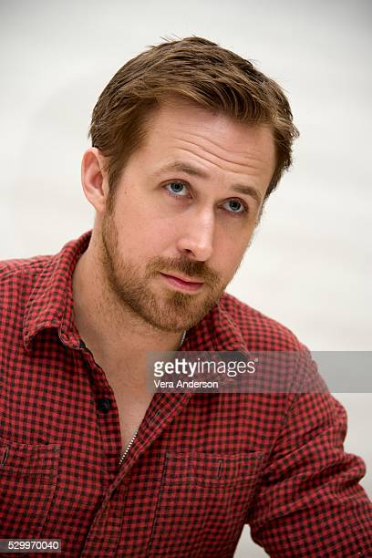 """Ryan Gosling at the """"Nice Guys"""" Press Conference at the Four Seasons Hotel on April 26, 2016 in Beverly Hills, California."""