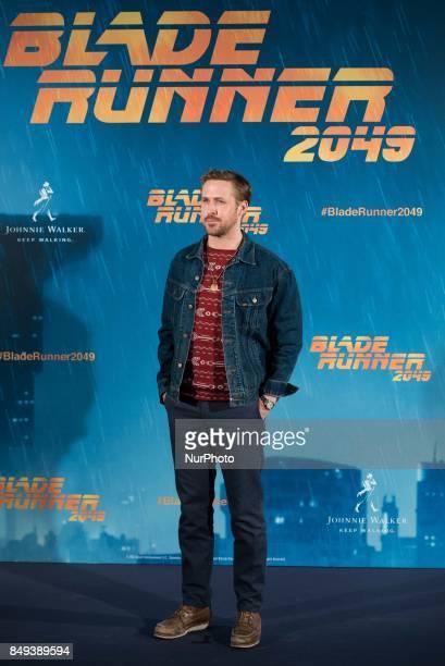 Ryan Gosling atends the 'Blade Runner 2049' movie photocall at 'Villamagna Hotel' in Madrid on September 19 2017